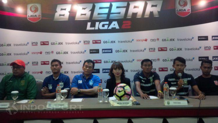 Konferensi pers Persebaya Surabaya vs PSIS Semarang. Copyright: © Arif Rahman/INDOSPORT