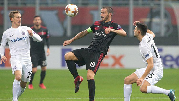 Leonardo Bonucci saat melawan FK Austria Vienne. Copyright: © Getty Images