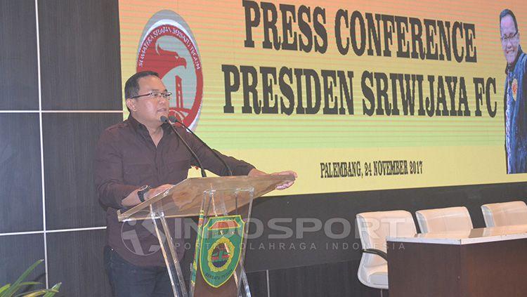 Presiden Sriwijaya FC, Dodi Reza Alex. Copyright: © Muhammad Effendi/INDOSPORT