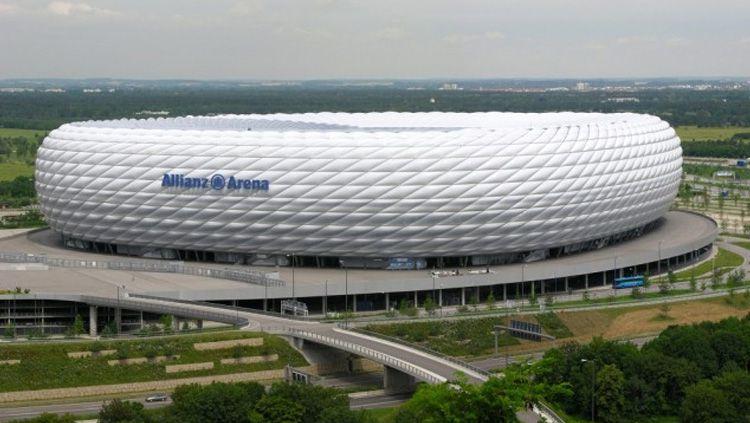 Berikut profil venue Euro 2020 di Kota Munich, Jerman, Allianz Arena. Copyright: © Internet/Indosport.com