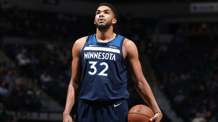 Karl-Anthony Towns mencatat double-double. Copyright: © Getty Images