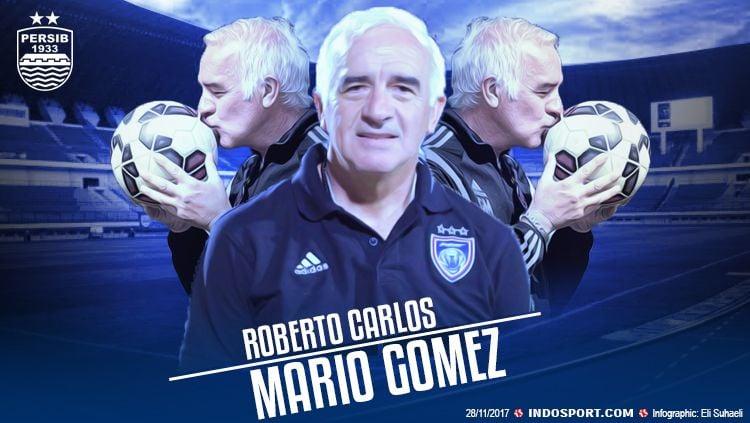 Perkenalan Roberto Carlos Mario Gomez saat menjadi pelatih baru Persib Bandung. Copyright: © Grafis: Eli Suhaeli/INDOSPORT