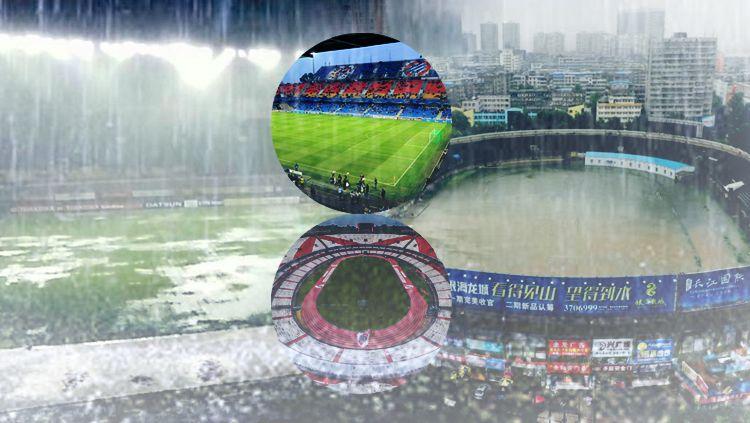 Stadion Banjir. Copyright: © INDOSPORT/Istimewa