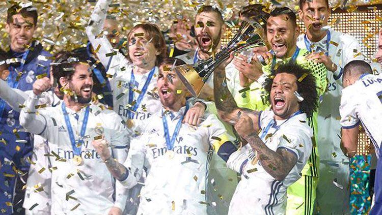 Real Madrid saat memenangkan Piala Dunia antarklub 2016. Copyright: © Real Madrid