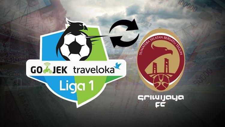 Logo Liga 1 dan Sriwijaya FC. Copyright: © INDOSPORT