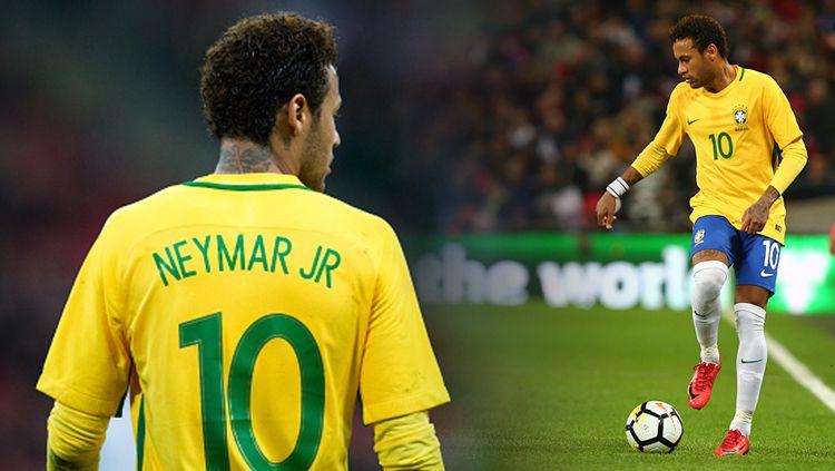 Penyerang Timnas Brasil, Neymar. Copyright: © INDOSPORT