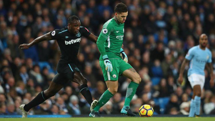 Berikut link live streaming pertandingan tunda Liga Inggris yang mempertemukan Manchester City vs West Ham, Kamis (20/02/20) dini hari WIB. Copyright: © Getty Images