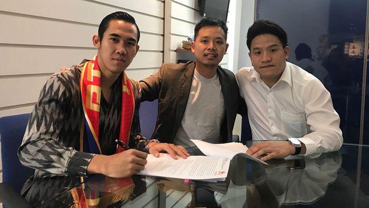 Ryuji Utomo resmi bergabung dengan klub Thailand. Copyright: © Istimewa
