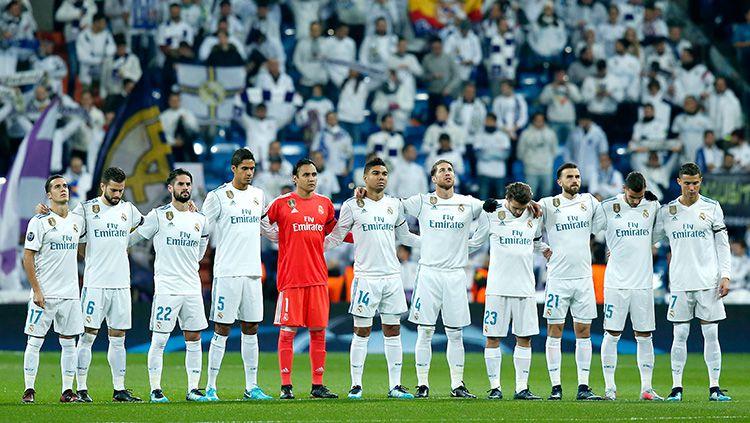 Para pemain Real Madrid sebelum kick off. Copyright: © INDOSPORT