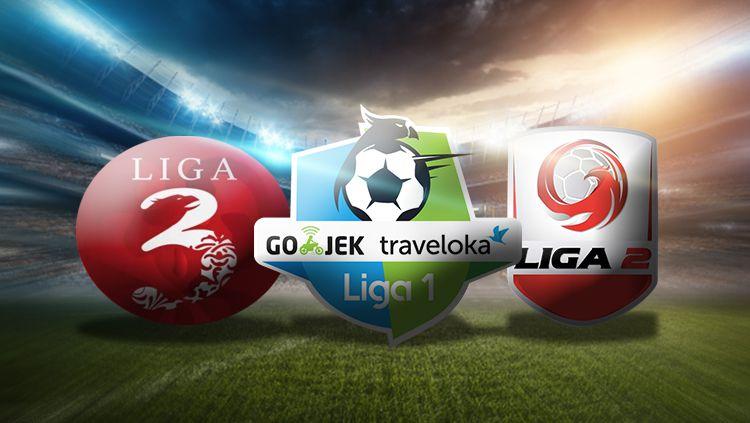 Logo, Liga 1, 2, dan 3. Copyright: © Grafis: Eli Suhaeli/INDOSPORT
