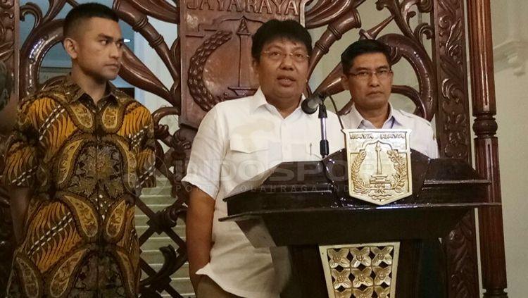 Direktur Utama Persija Jakarta, Gede Widiade. Copyright: © Muhammad Adiyaksa/INDOSPORT