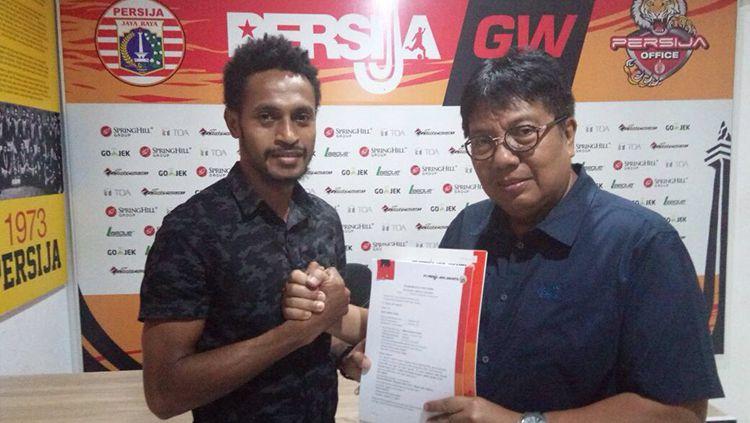 Pemain Baru Persija Jakarta, Marco Kabiay. Copyright: © Persija