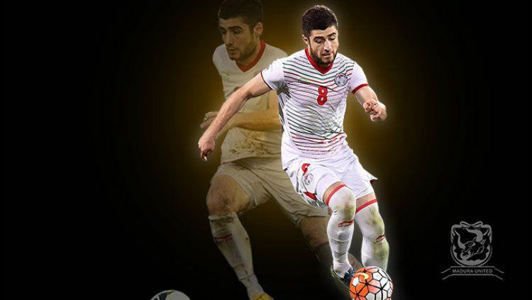 Nuriddin Davronov, pemain anyar Madura United. Copyright: © maduraunitedfc