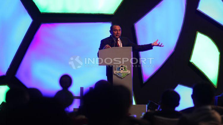 Edy Rahmayadi, Ketum PSSI di acara Awarding Night Liga 1 2017 Copyright: © Herry Ibrahim/INDOSPORT