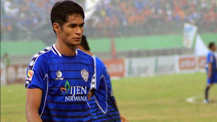 Muhammad Ridhuan, saat masih membela Arema. Copyright: © Goal