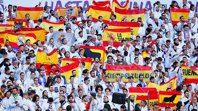 Suporter Real Madrid. Copyright: © INDOSPORT