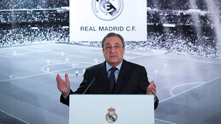 Presiden Real Madrid, Florentino Perez. Copyright: © INDOSPORT