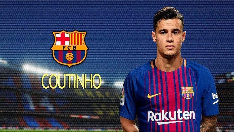 Ilustrasi Philippe Coutinho memakai seragam Barcelona. Copyright: © INTERNET