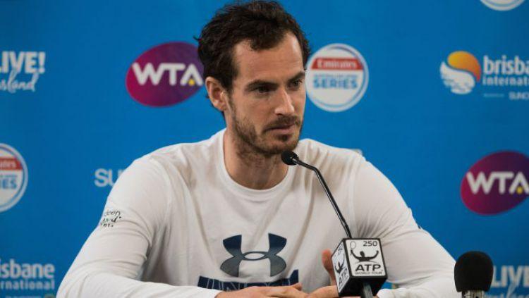 Andy Murray mundur dari Brisbane Open 2018. Copyright: © Brisbane International.