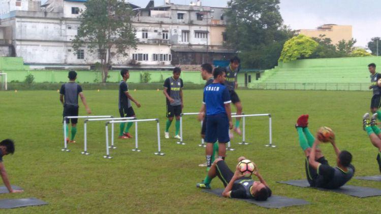 Latihan perdana skuat PSMS Medan. Copyright: © INDOSPORT