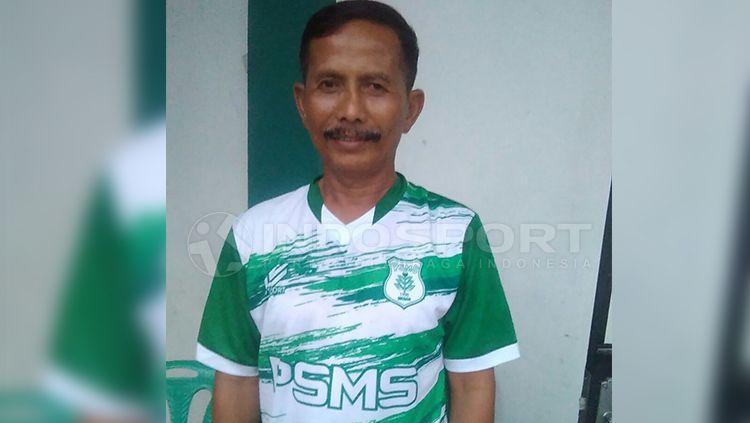 Pelatih PSMS Medan, Djajang Nurjaman, atau kerap disapa Djanur. Copyright: © Kesuma Ramadhan/INDOSPORT