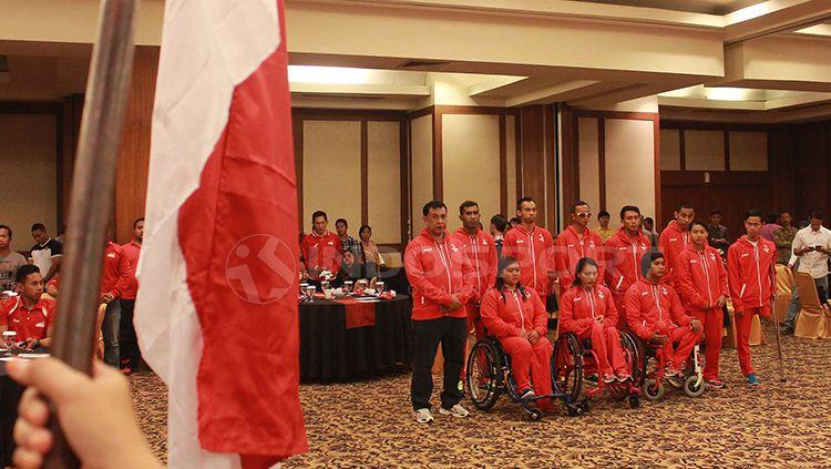 Pelepasan kontingen paralimpik Indonesia untuk Asian Paragames 2018. Copyright: © Arief Setiadi/INDOSPORT