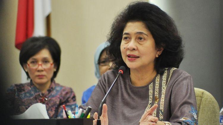 Nila Moeloek Menteri kesehatan (Menkes). Copyright: © sewarga