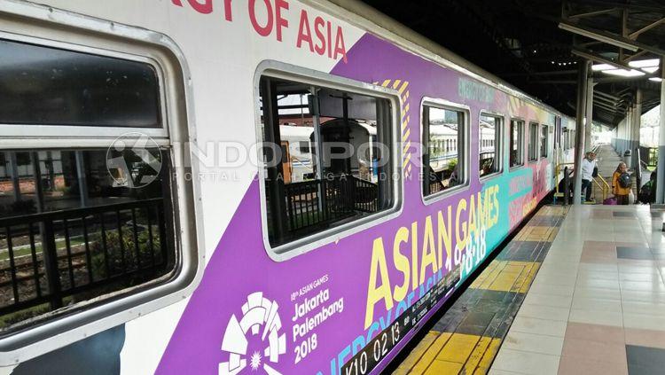 Tampilan kereta api jelang Asian Games 2018. Copyright: © Galih Prasetyo/INDOSPORT