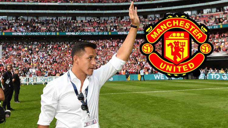 Alexis Sanchez diisukan akan segera menjadi pemain baru Manchester United. Copyright: © INDOSPORT