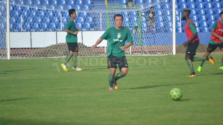 Yu Hyun Koo, gelandang Sriwijaya FC Copyright: © Muhammad Effendi/INDOSPORT
