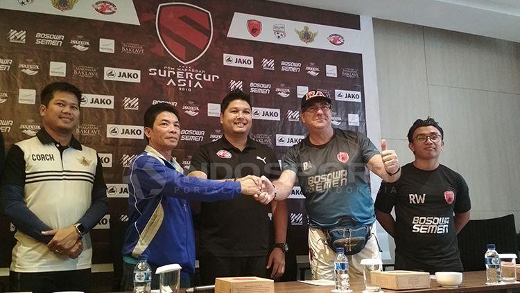 Jumpa pers antara PSM Makassar vs Home United di Laga Perdana Super Cup Asia. Copyright: © Muhammad Nur Basri/INDOSPORT