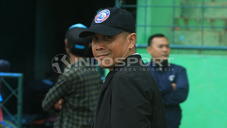 Pelatih Arema FC, Joko Susilo. Copyright: © Ian Setiawan/INDOSPORT