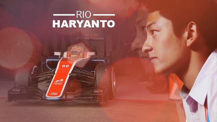 Pembalap Formula 1 pertama asal Indonesia, Rio Haryanto. Copyright: © Grafis: Eli Suhaeli/INDOSPORT