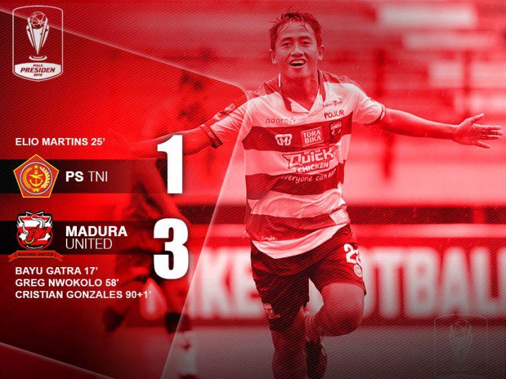 PS TNI 1-3 Madura United: MU Pastikan Lolos dari Fase Grup
