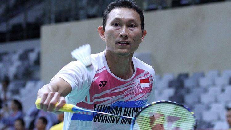 Sony Dwi Kuncoro melaju ke babak utama Thailand Open 2019. Copyright: © Humas PBSI