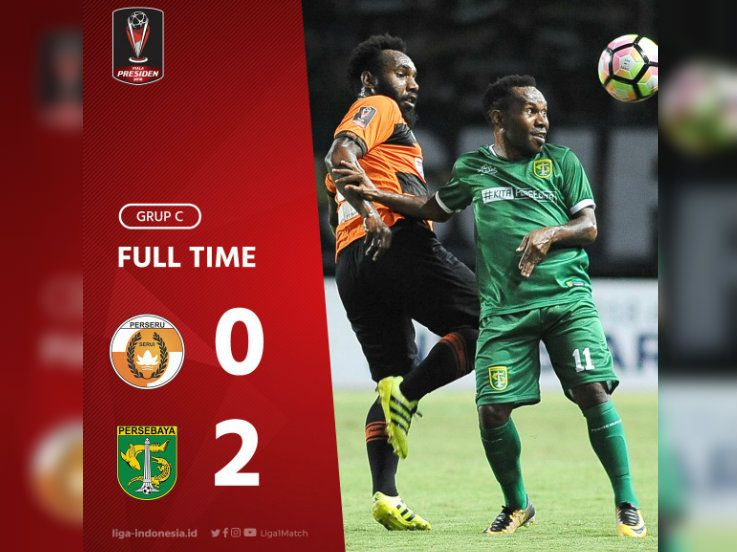Perseru Serui 0-2 Persebaya Surabaya: Irfan Jaya Gemilang!