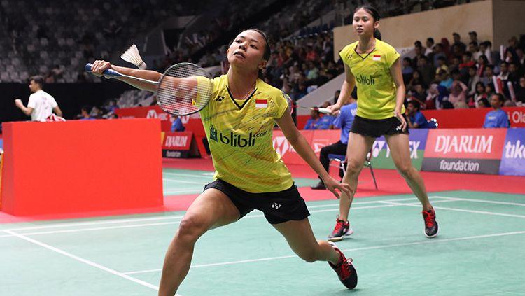 Della Destiara Haris dan Rizki Amelia Pradipta akan berlaga di semifinal Indonesian Masters 2019 melawan wakil China. Copyright: © Humas Pelatnas PBSI