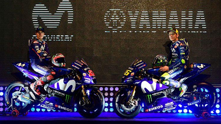Duo pembalap MotoGP, Valentino Rossi dan Maverick Vinales dipastikan akan terbang ke Jakarta, Indonesia untuk hadir dalam sebuah acara yang digelar oleh Yamaha. Copyright: © Indosport.com