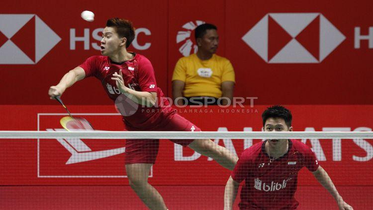 Marcus Fernaldi Gideon dan Kevin Sanjaya Sukamuljo Copyright: © Herry Ibrahim/Indosport.com