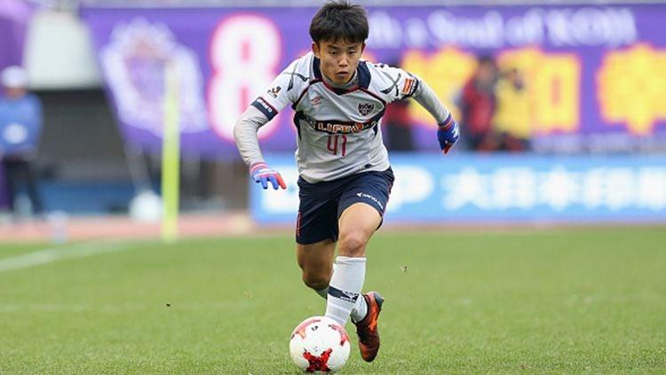 Mantan gelandang FC Tokyo, Takefusa Kubo yang kini berseragam Real Madrid. Copyright: © Getty Images
