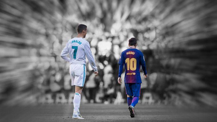 Cristiano Ronaldo dan Lionel Messi. Copyright: © Grafis: Eli Suhaeli/INDOSPORT
