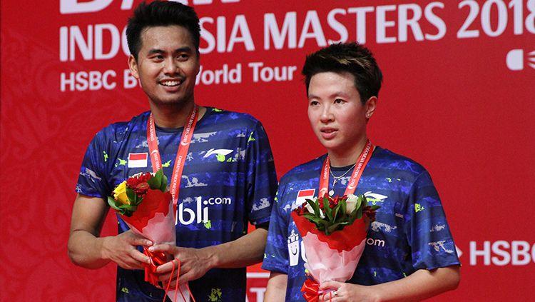 Tontowi Ahmad dan Liliyana Natsir gagal merengkuh gelar juara Indonesia Masters 2018. Copyright: © Humas Pelatnas PBSI