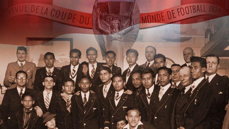 Timnas Indonesia Pada Piala Dunia 1938. Copyright: © INDOSPORT/Istimewa