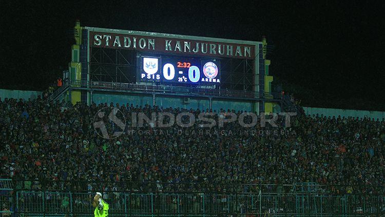 Papan skor Stadion Kanjuruhan. Copyright: © Ian Setiawan/INDOSPORT
