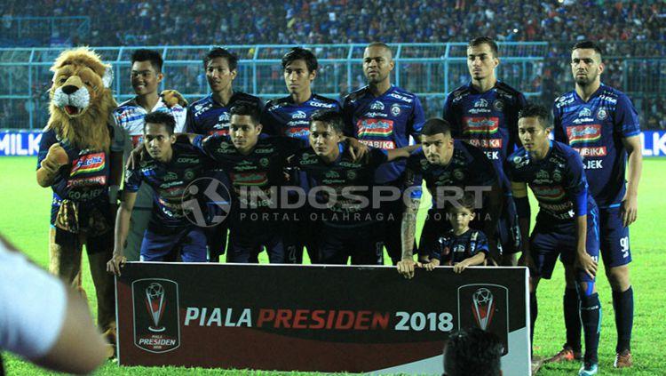 Skuat Arema FC. Copyright: © Ian Setiawan/Indosport.com