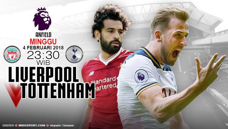 Prediksi Liverpool vs Tottenham Hotspur Copyright: © Indosport.com