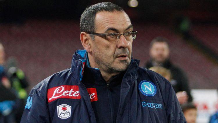 Maurizio Sarri (Pelatih Napoli) Copyright: © www.sumberbola.com