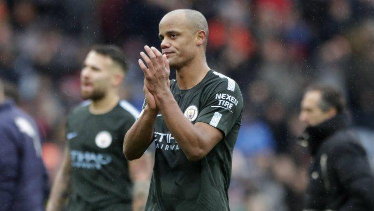Kapten Manchester City Vincent Kompany. Copyright: © Getty Images