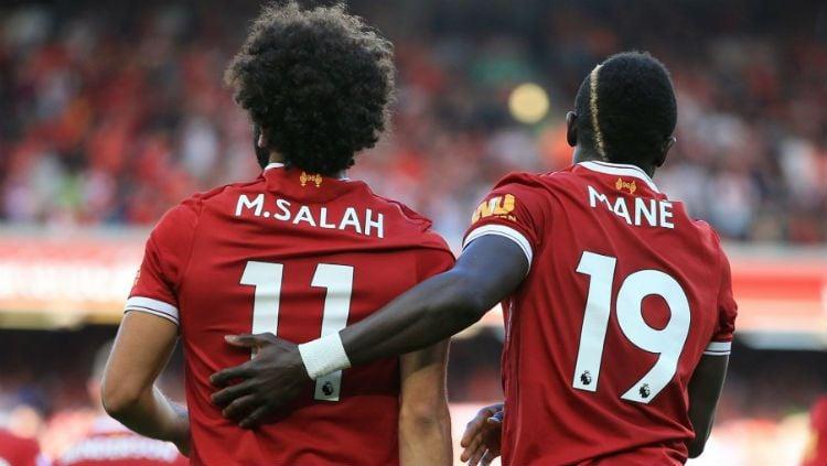 Salah dan Mane merayakan gol Copyright: © footballparadise.com