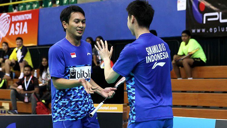 Mohammad Ahsan/Kevin Sanjaya di Badminton Asia Championship Copyright: © Humas PBSI